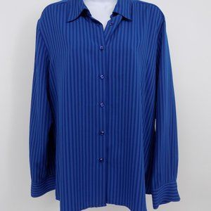 Blue Stripped 'Notations' Blouse, Top